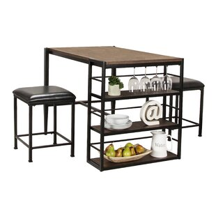 Oberlander 3 Piece Pub Table Set