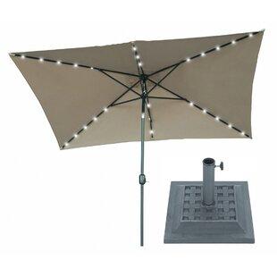 Trademark Innovations 10' X 6.5' Rectangular Lighted Umbrella