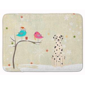 Christmas Presents Friends Dalmatian Memory Foam Bath Rug