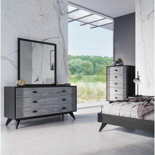 Ivy Bronx Donham 6 Drawer Double Dresser