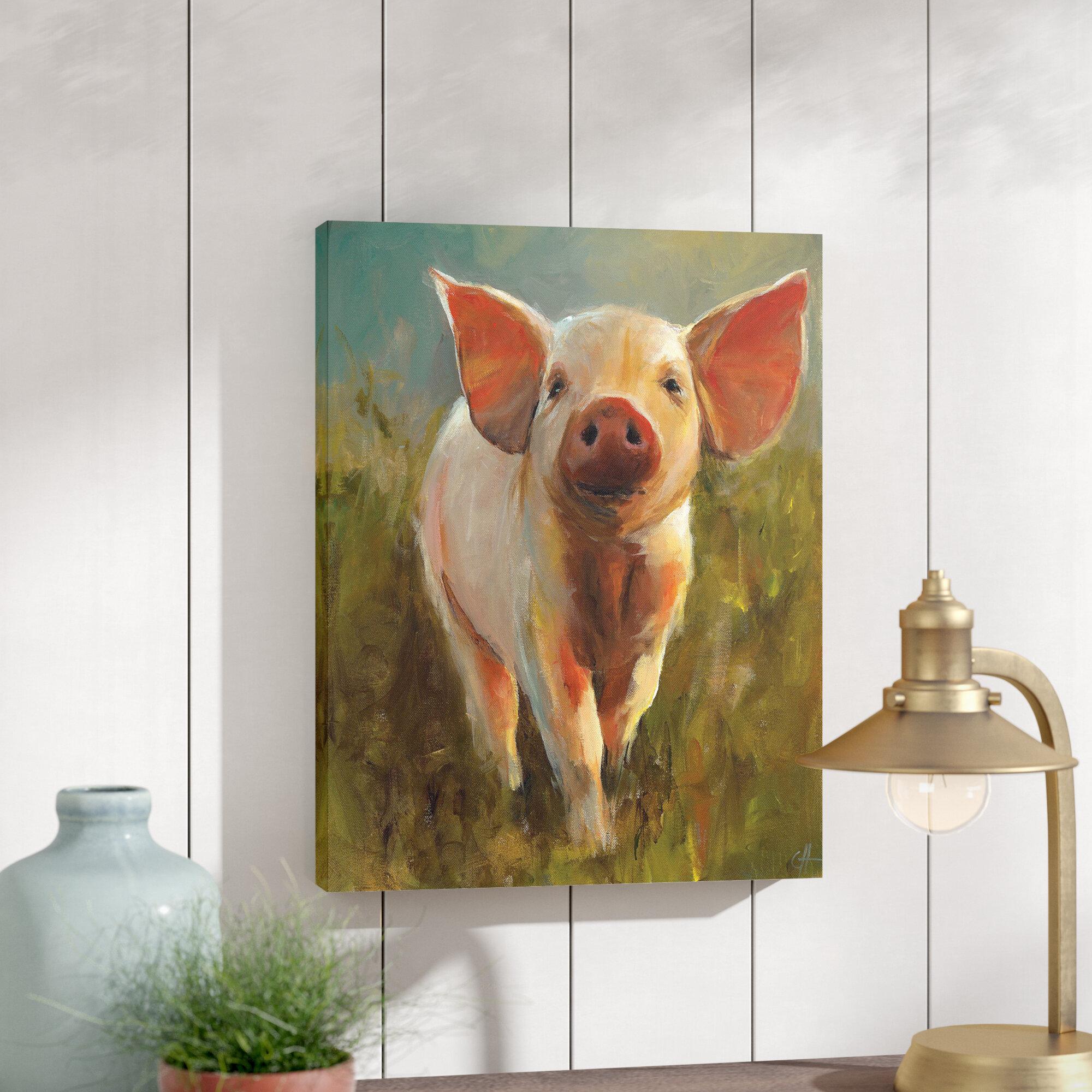 farmhouse metal side mat mats bell pig