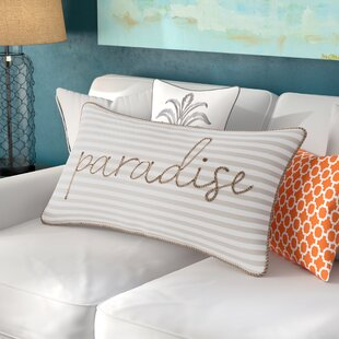 Java Woven Stripe Paradise Decorative Cotton Lumbar Pillow