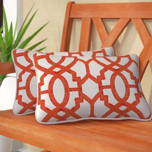 Chewning Indoor/Outdoor Lumbar Pillow (Set of 2)