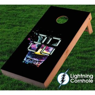 Lightning Cornhole Electronic Scoring Glass Cornhole Board