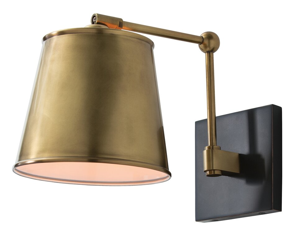 Swing Arm Lamp #brasssconce #modernsconce #brasswalllight