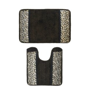Zosia Wild Safari 2 Piece Bath Rug Set