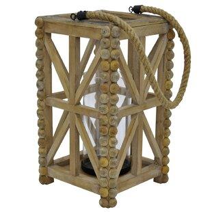 Wood Lantern by Bungalow Rose