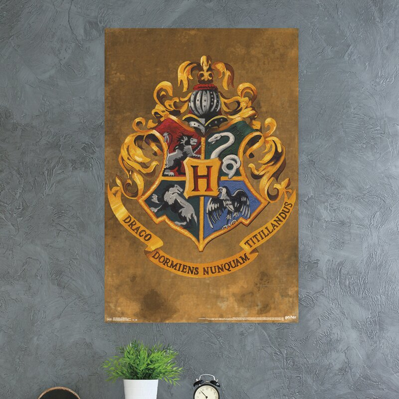 Trends International Harry Potter Hogwarts Crest Paper Print