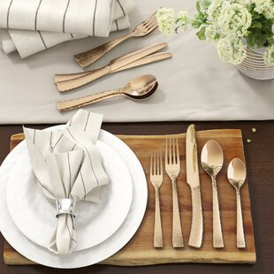 Ambridge Hammered Flatware Set