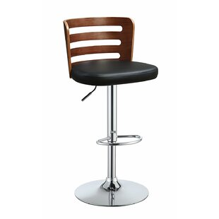 Douthit Adjustable Height Swivel Bar Stool George Oliver