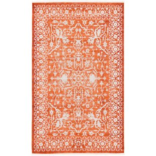 Price Check Sherrill Terracotta Area Rug ByBungalow Rose