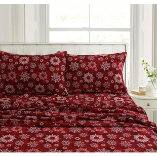 Fay Snowflake Flannel Sheet Set