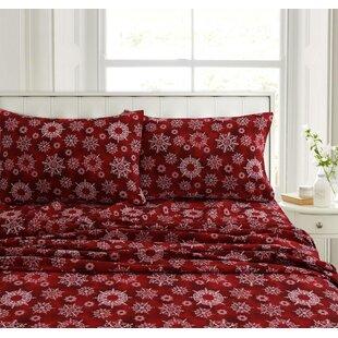 Fay Snowflake Flannel Sheet Set