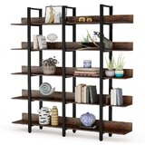 Gossard 70.86'' H x 70.86'' W Metal Etagere Bookcase by 17 Stories