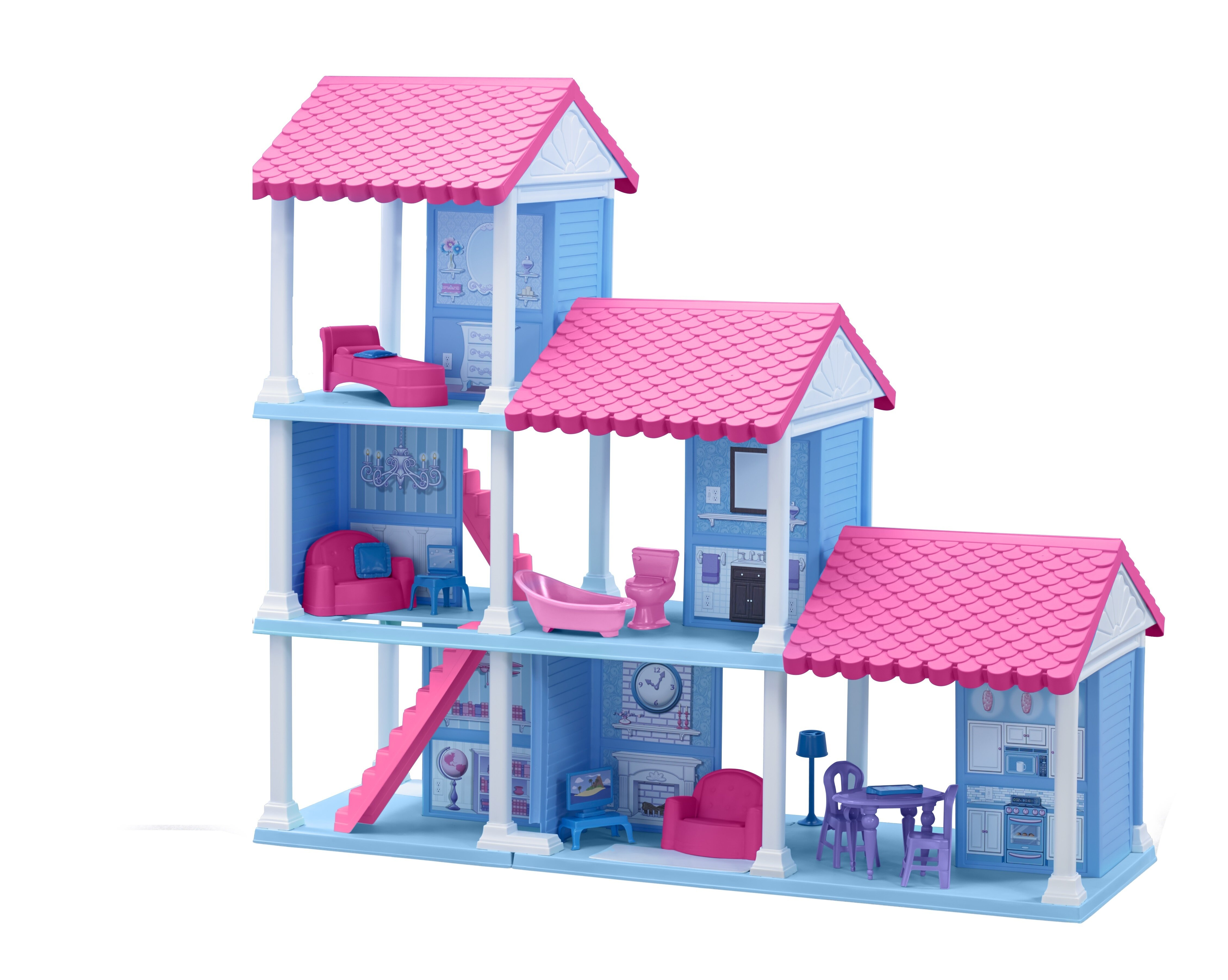 American Plastic Toys 25 Piece Delightful Dollhouse Set Reviews
