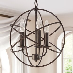 Check Prices Nickerson 3-Light Globe Chandelier By Alcott Hill