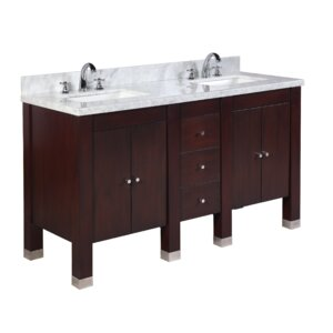 Riley 60 Double Bathroom Vanity Set