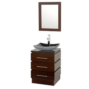 Compare prices Rioni 22 Single Espresso Bathroom Vanity Set with Mirror ByWyndham Collection
