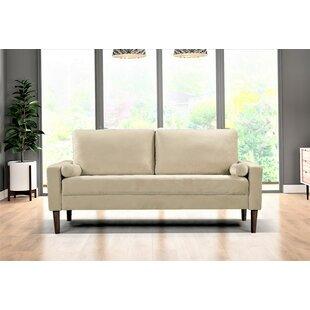 Vivaan Velvet 7665 Square Arm Sofa