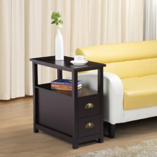 Trammel End Table with Storage