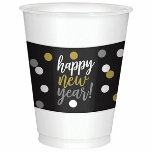 Happy New Year Plastic Disposable Everyday Cup (Set of 50)