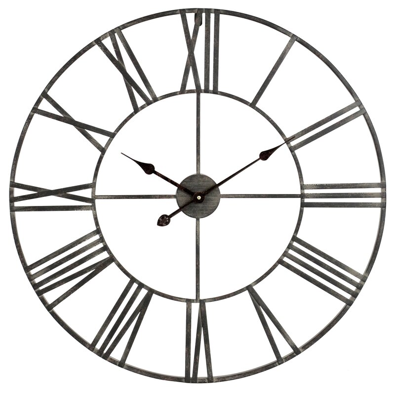 Laurel Foundry Modern Farmhouse Oversized Eisenhauer 30 Wall Clock