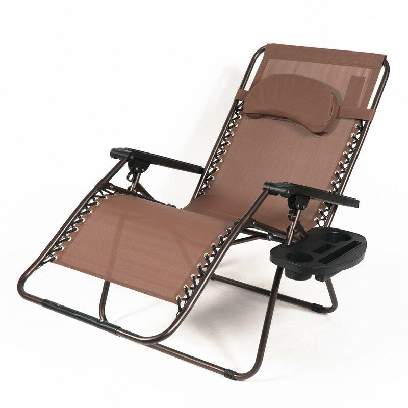 Freeport Park Adriana Reclining Zero Gravity Chair with ...