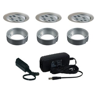 Jesco Lighting Slim Disk LED Under Cabinet Recessed Light Kit