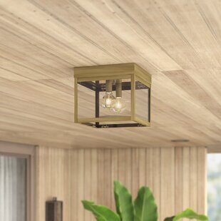 Demery 2-Light LED Outdoor Flush Mount by Mercury Row