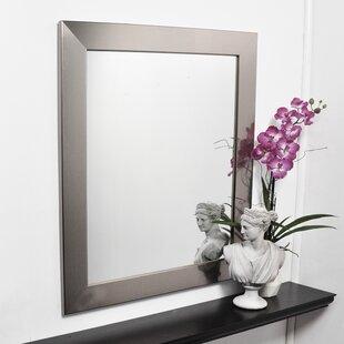 Reviews Silver Designer Entry Way Wall Mirror ByBrandt Works LLC