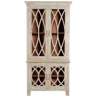 Pinner Glass Tall 4 Door Accent Cabinet by One Allium Way