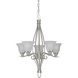 Darrell 5-Light Shaded Chandelier by Charlton Home