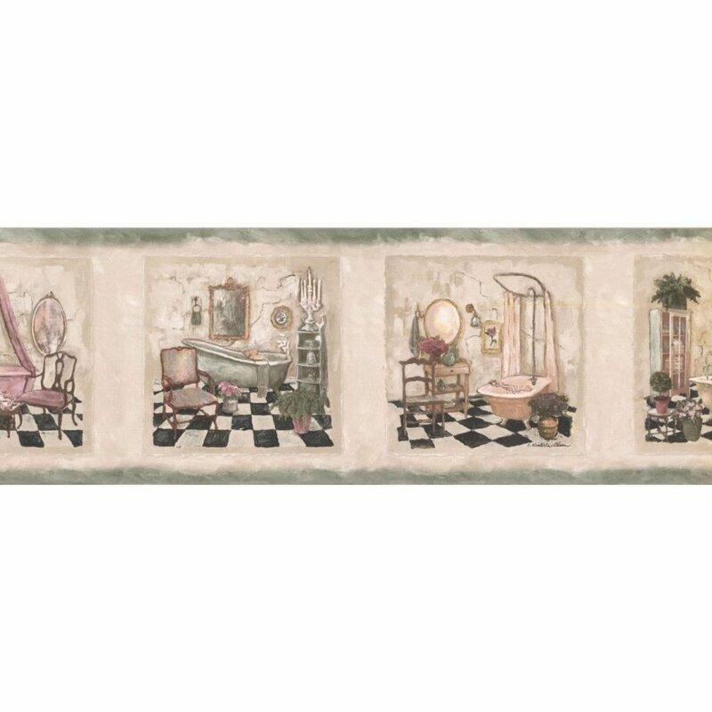 Winston Porter Huldah Bathroom 15 L X 7 W Wallpaper Border