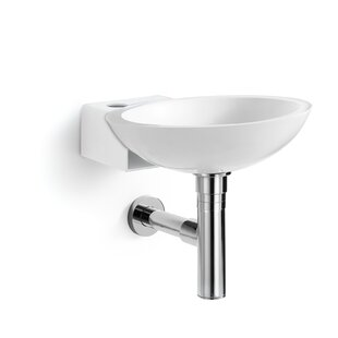 WS Bath Collections Ciuci Stone Circular Vessel Bathroom Sink