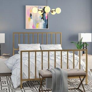 Willa Arlo Interiors Ackles Slat Metal Queen Panel Bed