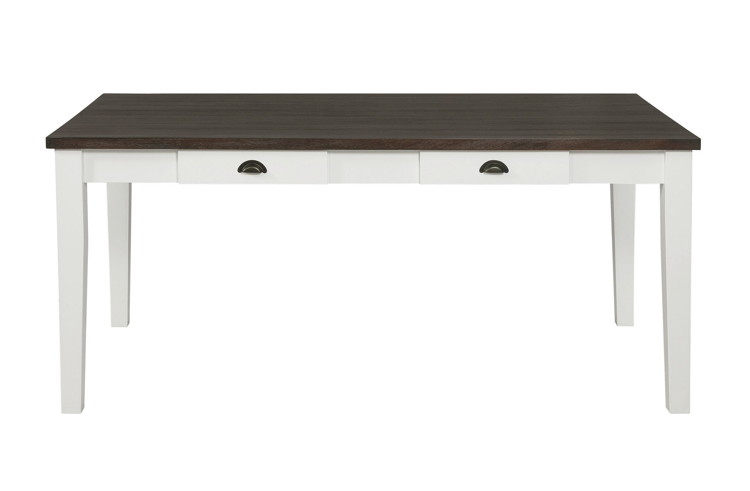 Red Barrel Studio Tisa 4 Drawer Dining Table Espresso And Antique White Wayfair