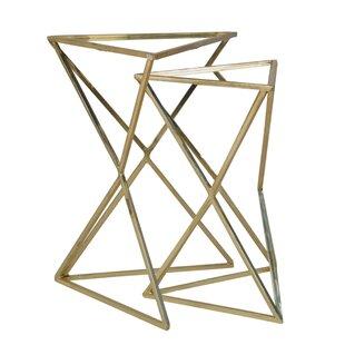 Fregoso Metal Triangle 2 Piece Nesting Tables