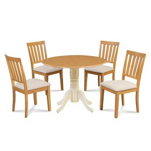Casimir 5 Piece Drop Leaf Solid Wood Dining Set Millwood Pines
