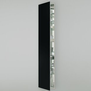 M Series 15 x 70 Recessed Frameless Medicine Cabinet with 3 Adjustable Shelves and Lighting By Robern