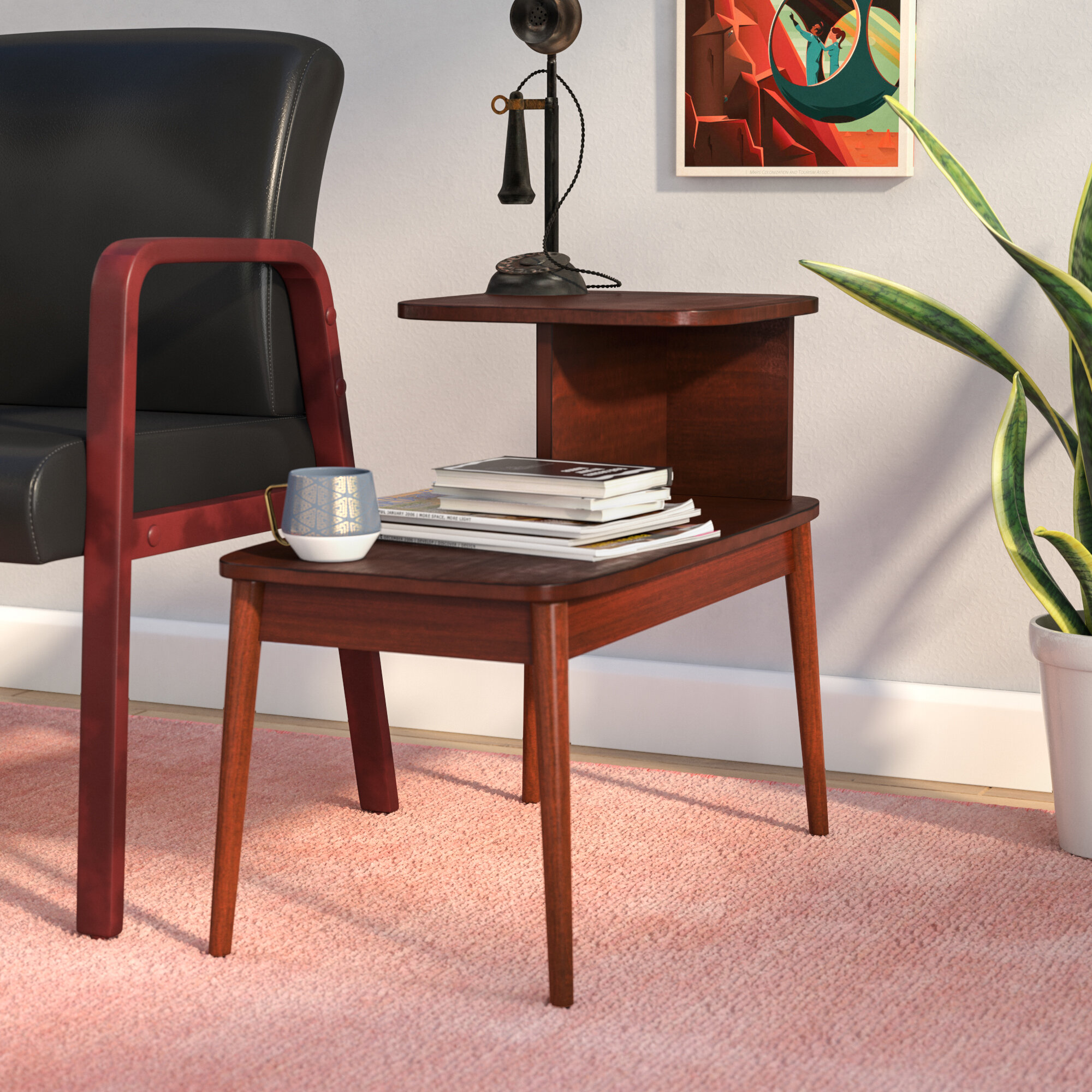 Ebern designs darcey mid century end table reviews wayfair