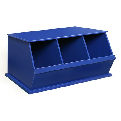 Viv + Rae Bridport Go-To Storage Cubby Toy Organizer Finish: Blue, Bins: 3