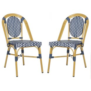 Armando Bistro Stacking Patio Dining Chair (Set of 2)