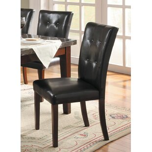 Saxon Modern Luxurious Upholstered Dining Chair (Set of 2) Red Barrel Studio