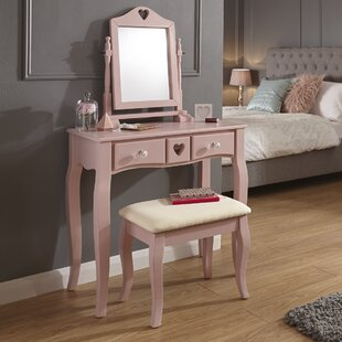 Veras Dressing Table Set With Mirror By August Grove