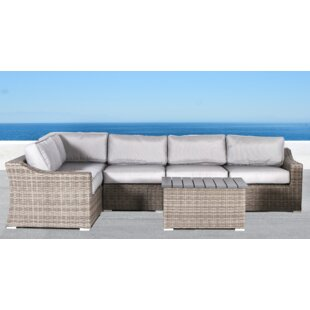 Rosecliff Heights Huddleson 6 Piece Conversation Set with Cushions