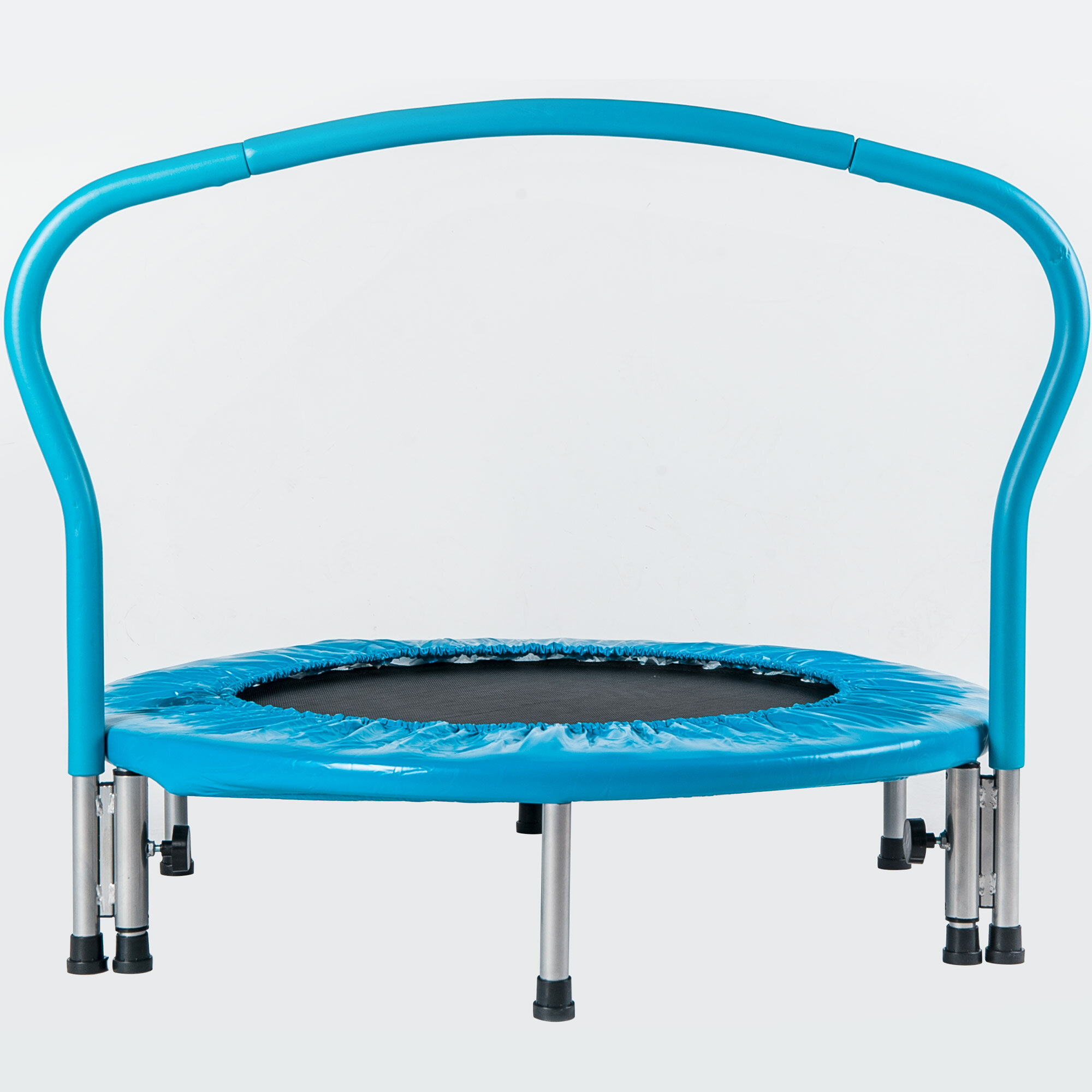 """36/"""" Kids Trampoline with Handrail Mini Toddler Trampoline w// Safety Padded Cover"""