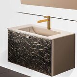 Audette Luxury Murano 32 Wall-Mounted Single Bathroom Vanity Set by Everly Quinn
