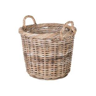 Mowery Round Rattan Basket ByAugust Grove