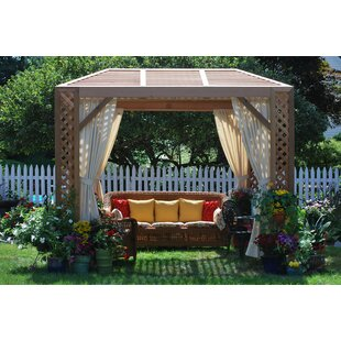 Grown For You 10 Ft. W x 8 Ft. D Solid Wood Patio Gazebo