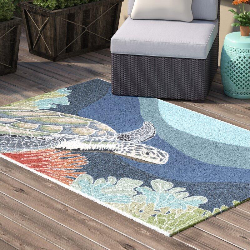 Clowers Aal Blue Indoor Outdoor Area Rug